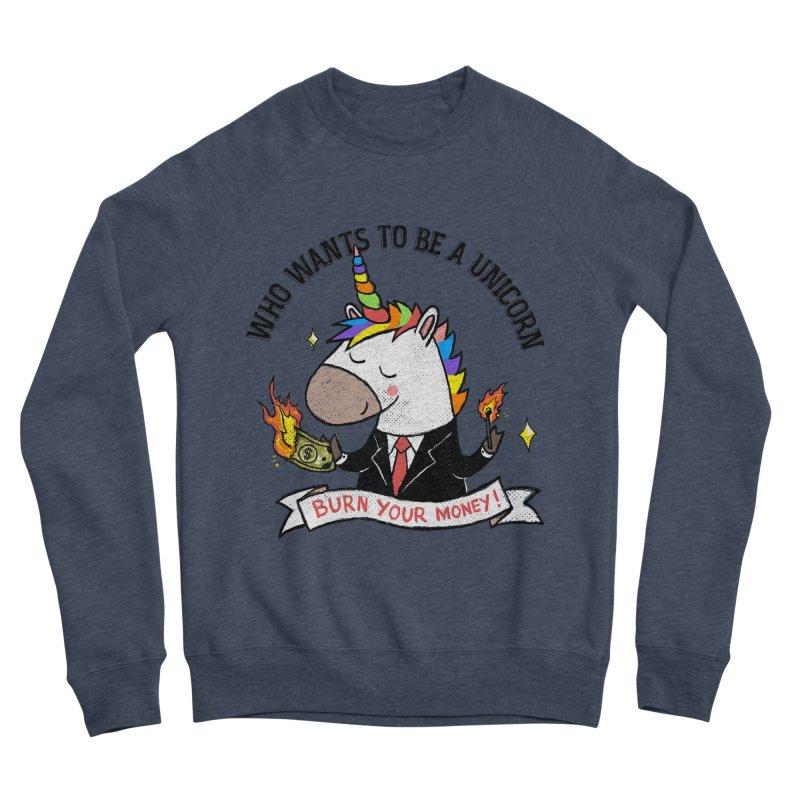 Burning Money Women's Sponge Fleece Sweatshirt by kooky love's Artist Shop