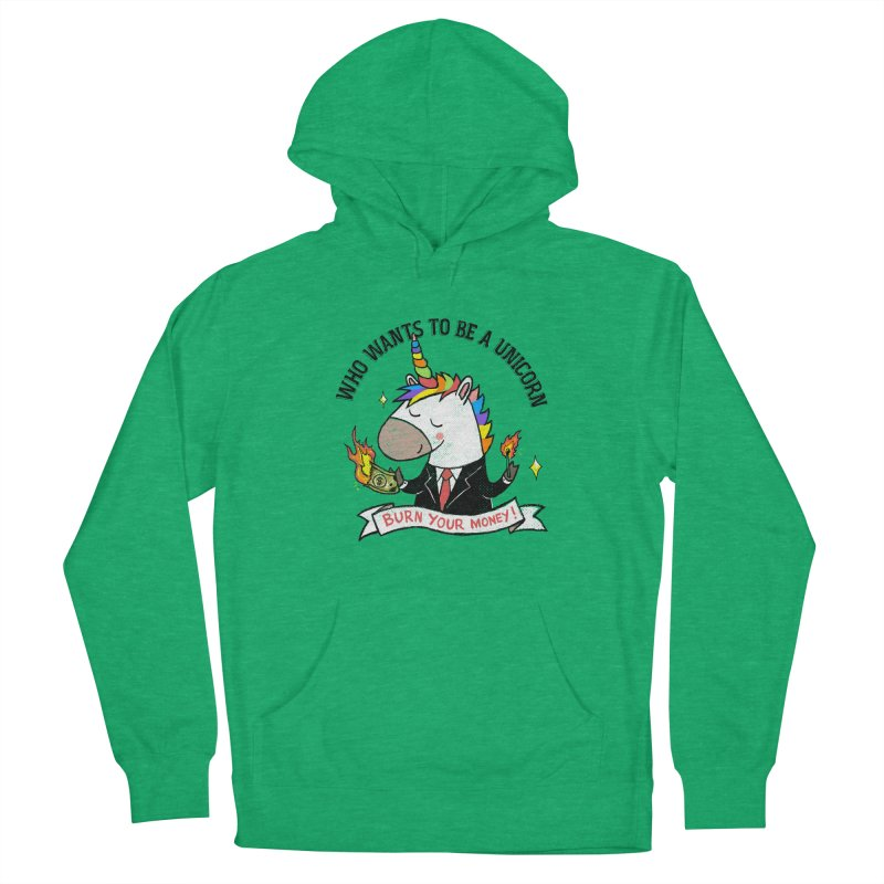 Burning Money Men's French Terry Pullover Hoody by kooky love's Artist Shop