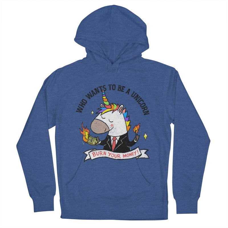 Burning Money Women's French Terry Pullover Hoody by kooky love's Artist Shop