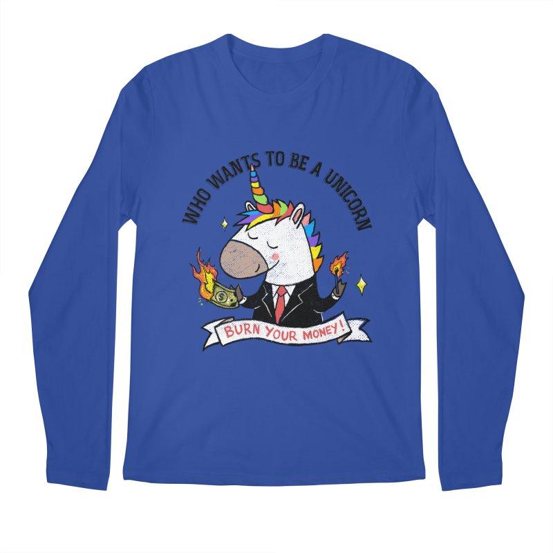 Burning Money Men's Regular Longsleeve T-Shirt by kooky love's Artist Shop