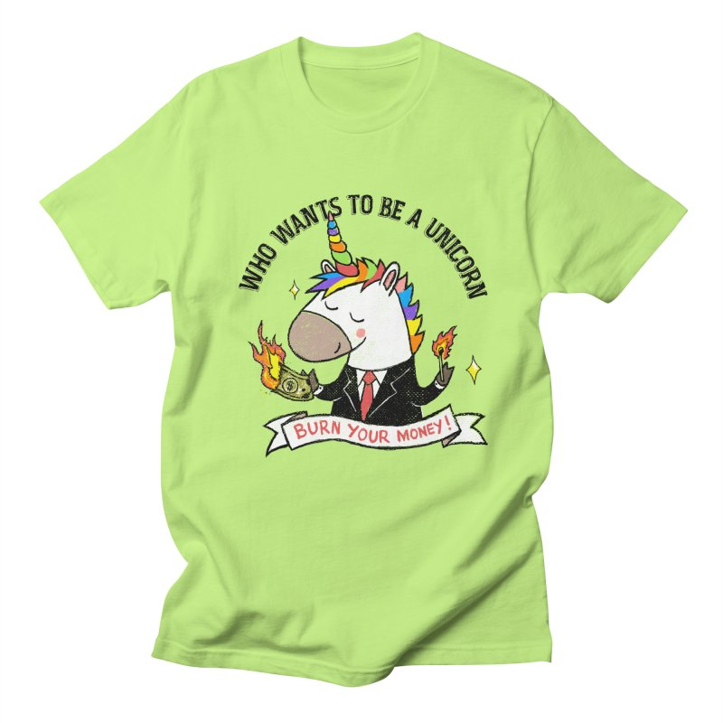 Burning Money Men's Regular T-Shirt by kooky love's Artist Shop