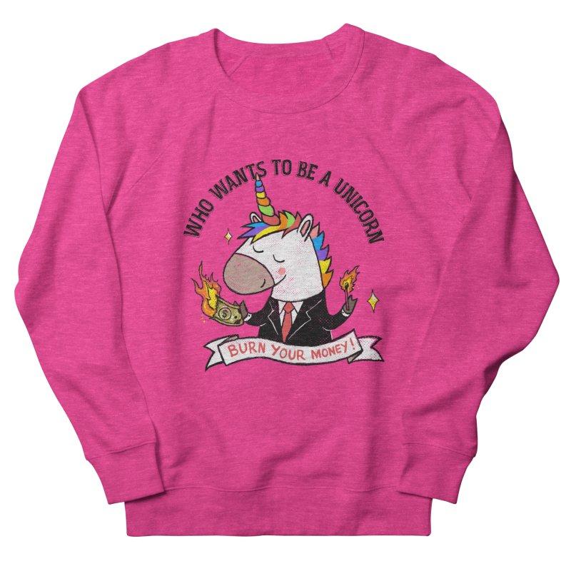Burning Money Men's French Terry Sweatshirt by kooky love's Artist Shop