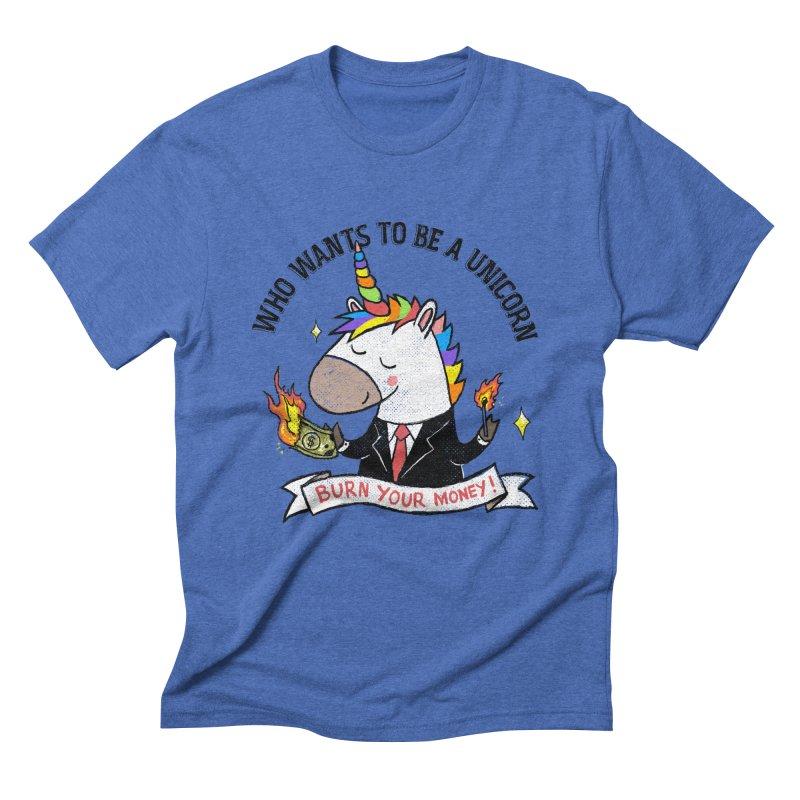 Burning Money Men's T-Shirt by kooky love's Artist Shop