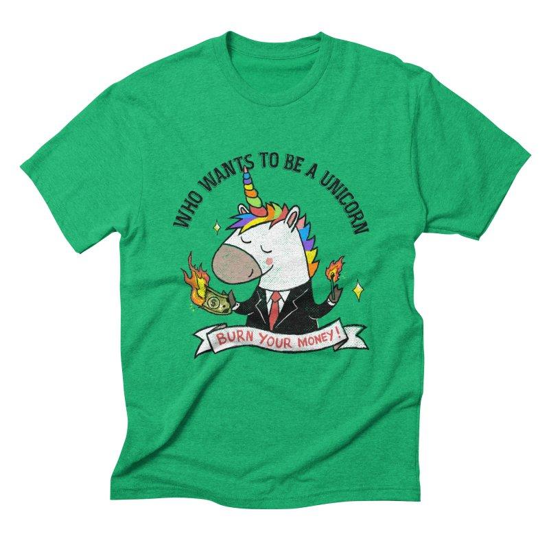 Burning Money Men's Triblend T-Shirt by kooky love's Artist Shop