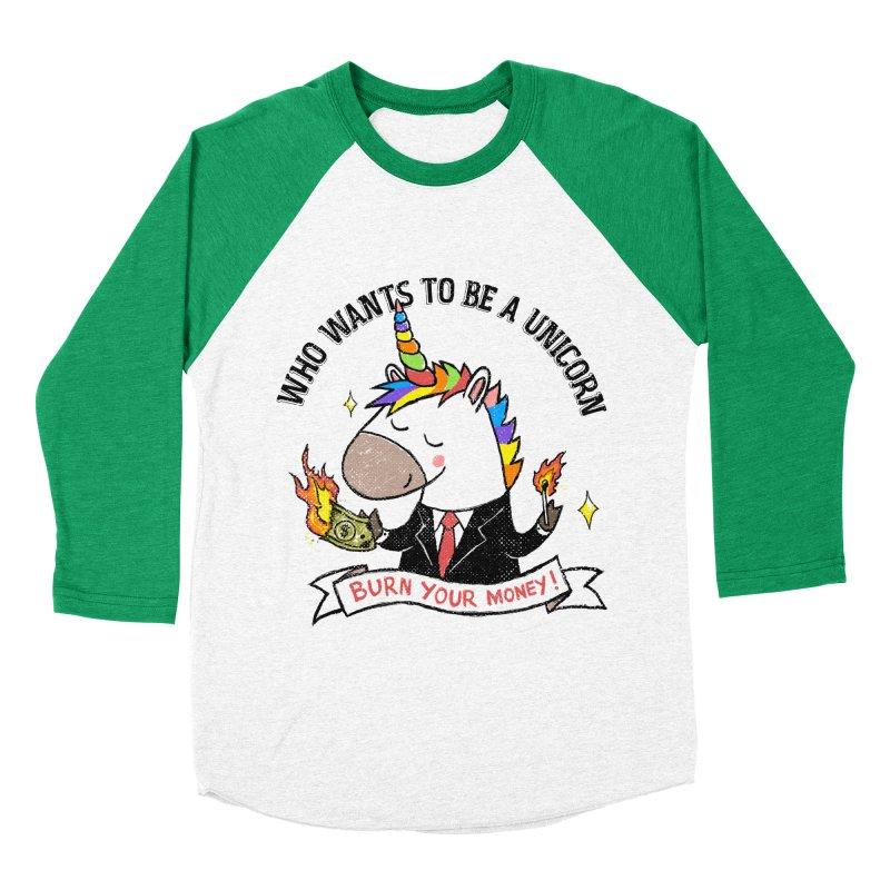 Burning Money Women's Baseball Triblend Longsleeve T-Shirt by kooky love's Artist Shop