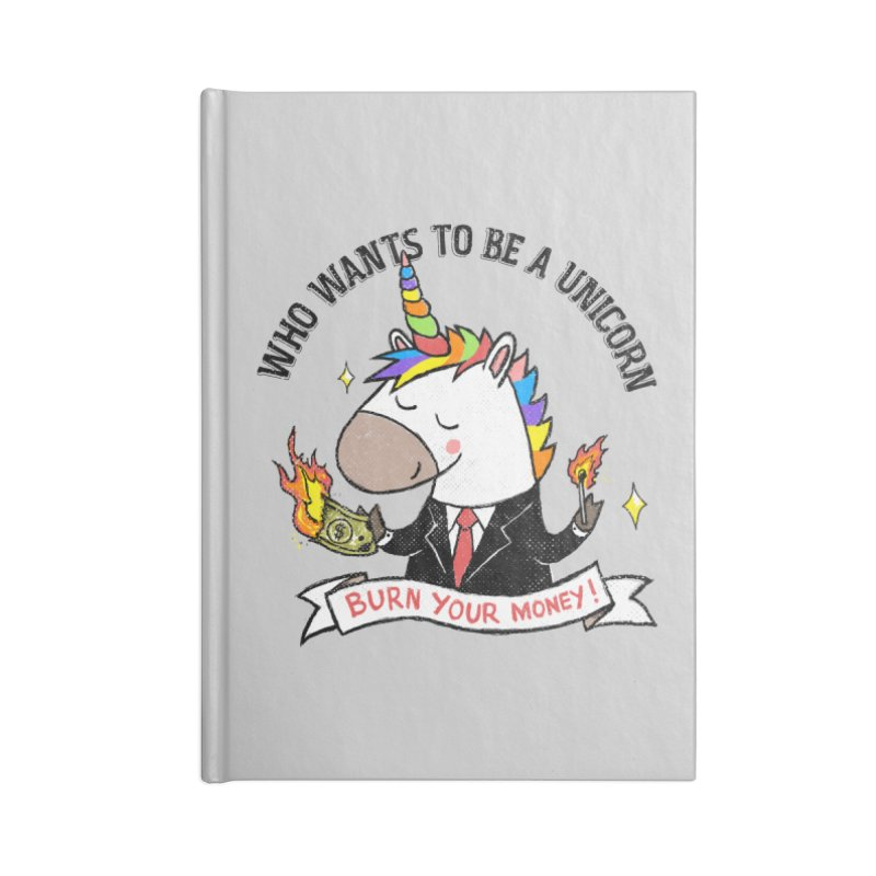 Burning Money Accessories Blank Journal Notebook by kooky love's Artist Shop