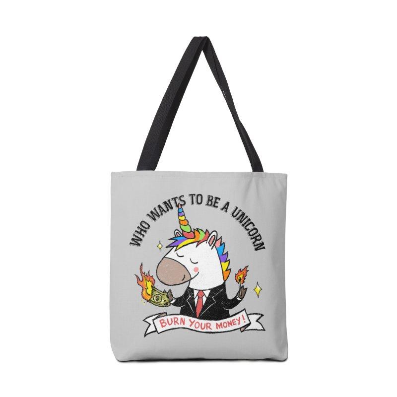 Burning Money Accessories Tote Bag Bag by kooky love's Artist Shop
