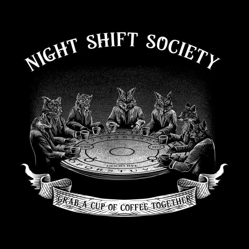 Night Shift Society Women's V-Neck by kooky love's Artist Shop