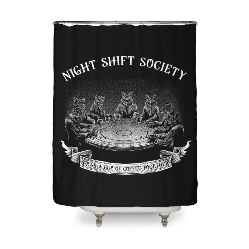 Night Shift Society Home Shower Curtain by kooky love's Artist Shop