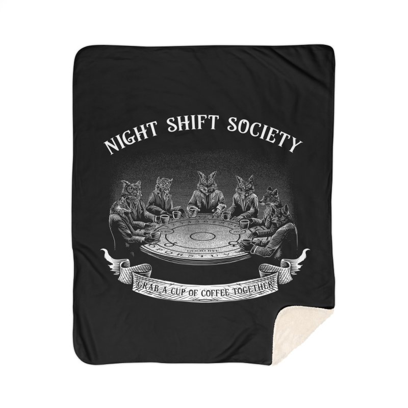 Night Shift Society Home Sherpa Blanket Blanket by kooky love's Artist Shop
