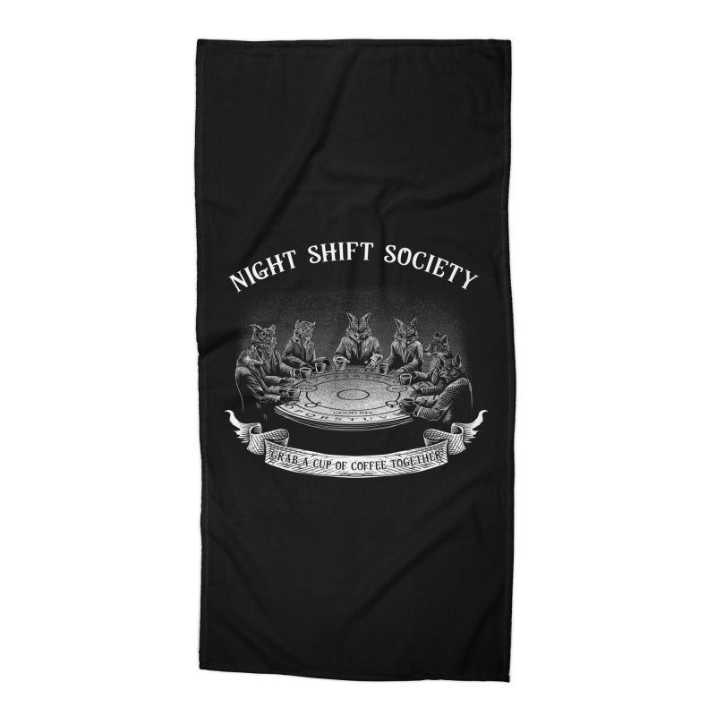 Night Shift Society Accessories Beach Towel by kooky love's Artist Shop