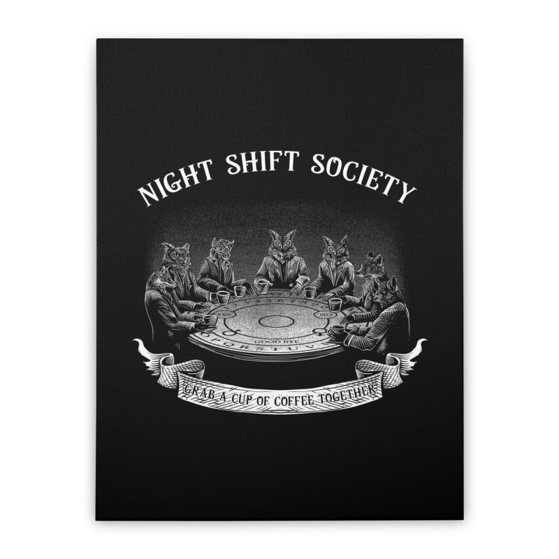 Night Shift Society Home Stretched Canvas by kooky love's Artist Shop