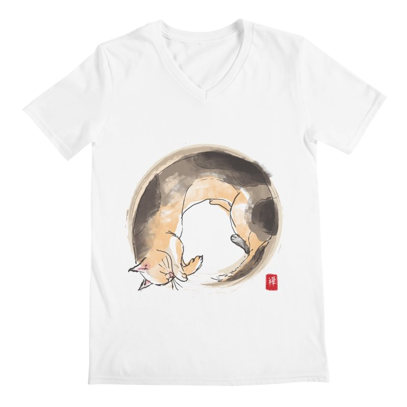 Sleeping is my zen Men's Regular V-Neck by kooky love's Artist Shop