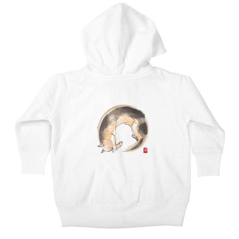 Sleeping is my zen Kids Baby Zip-Up Hoody by kooky love's Artist Shop