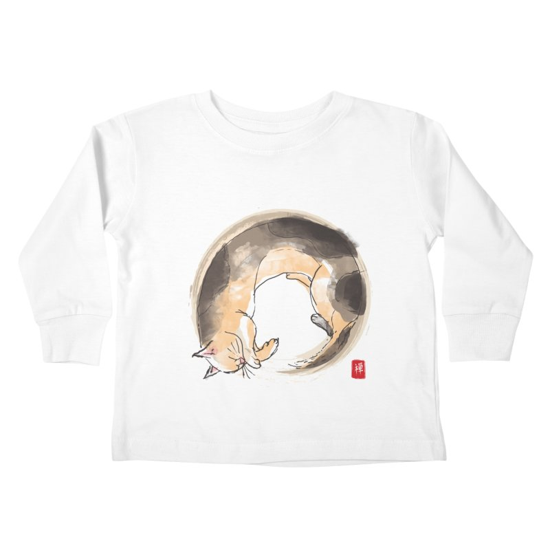 Sleeping is my zen Kids Toddler Longsleeve T-Shirt by kooky love's Artist Shop
