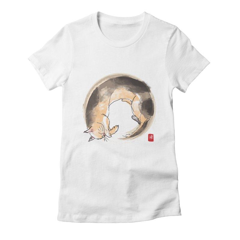 Sleeping is my zen Women's Fitted T-Shirt by kooky love's Artist Shop
