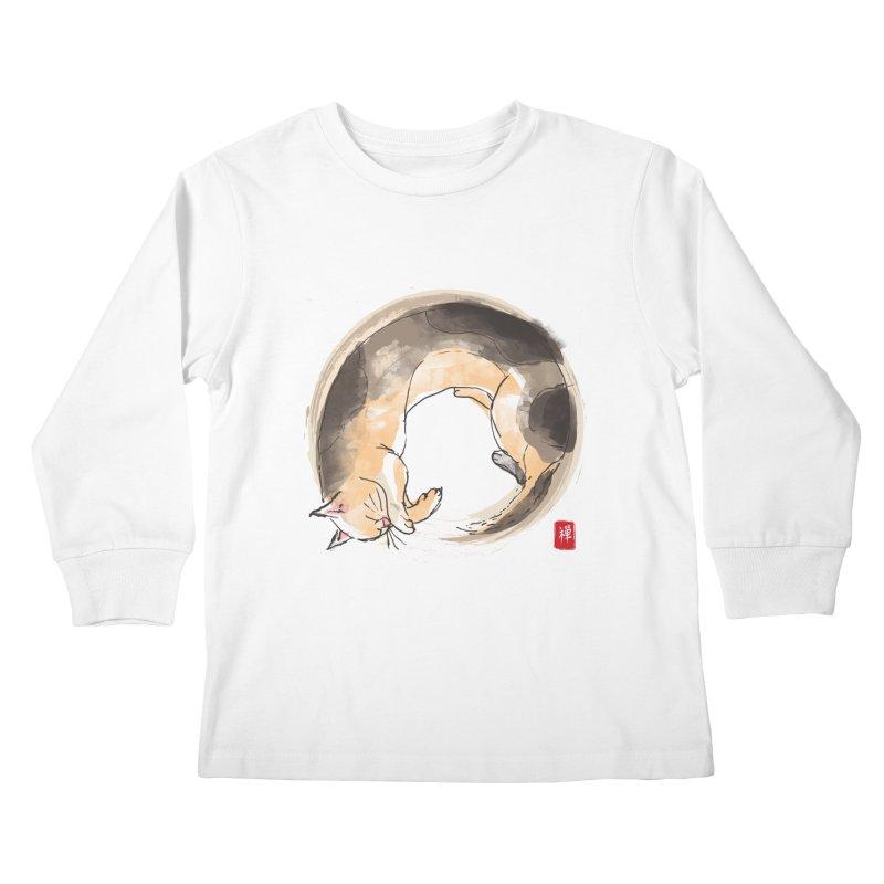 Sleeping is my zen Kids Longsleeve T-Shirt by kooky love's Artist Shop