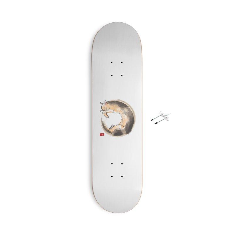 Sleeping is my zen Accessories With Hanging Hardware Skateboard by kooky love's Artist Shop
