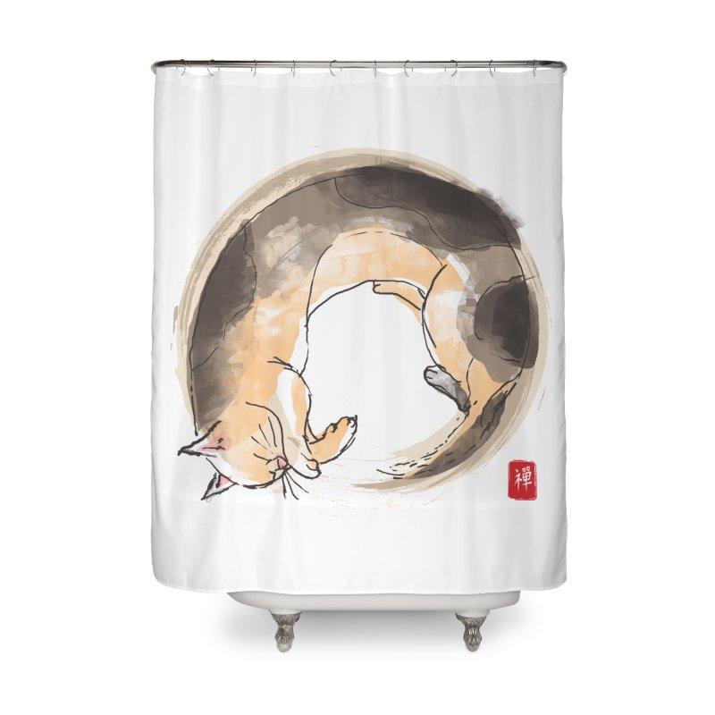 Sleeping is my zen Home Shower Curtain by kooky love's Artist Shop