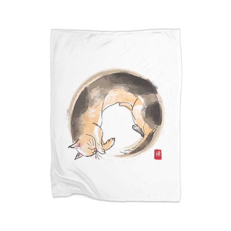Sleeping is my zen Home Fleece Blanket Blanket by kooky love's Artist Shop