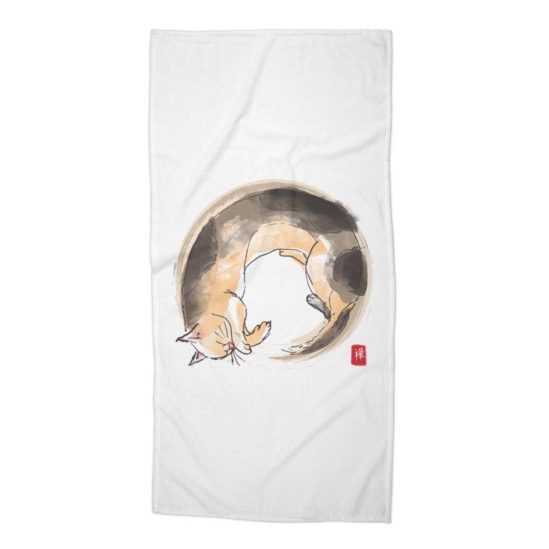 Sleeping is my zen Accessories Beach Towel by kooky love's Artist Shop