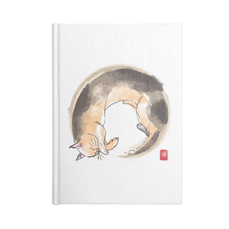 Sleeping is my zen Accessories Lined Journal Notebook by kooky love's Artist Shop