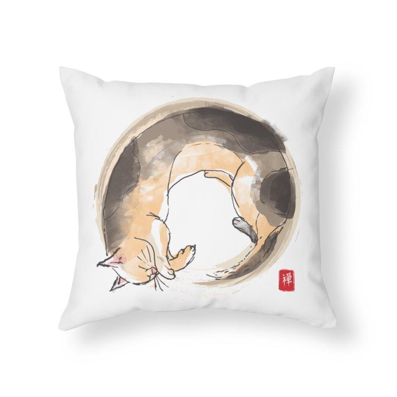 Sleeping is my zen Home Throw Pillow by kooky love's Artist Shop