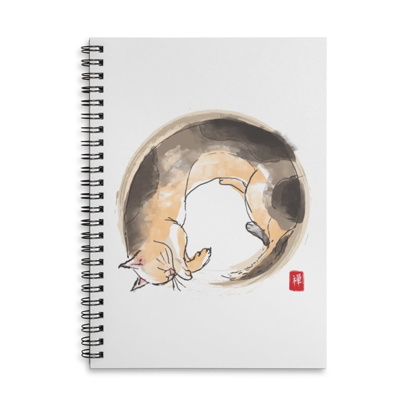 Sleeping is my zen Accessories Lined Spiral Notebook by kooky love's Artist Shop