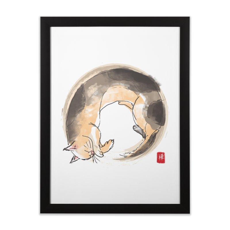 Sleeping is my zen Home Framed Fine Art Print by kooky love's Artist Shop