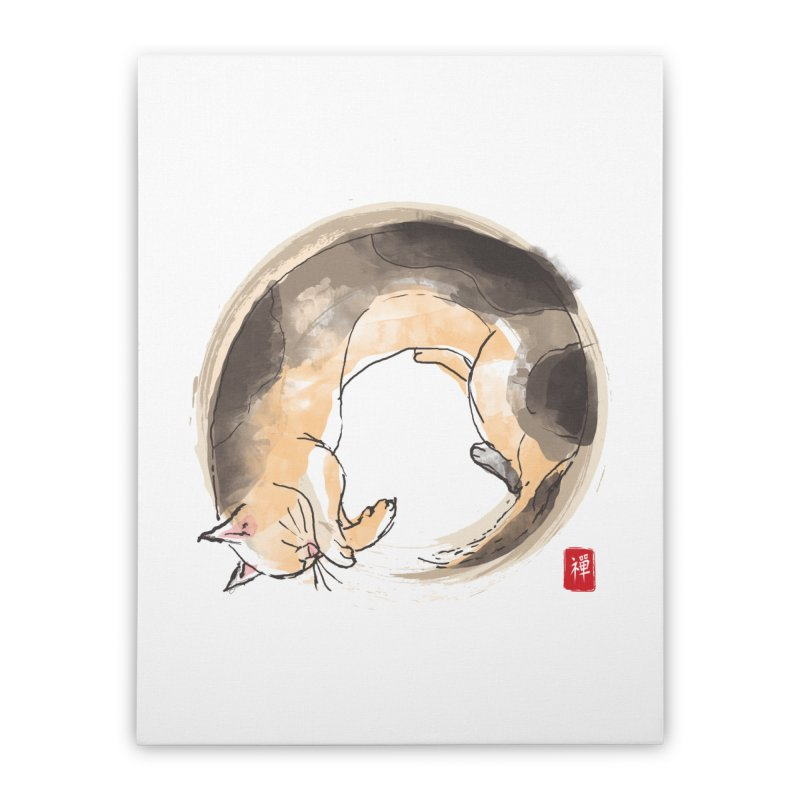 Sleeping is my zen Home Stretched Canvas by kooky love's Artist Shop