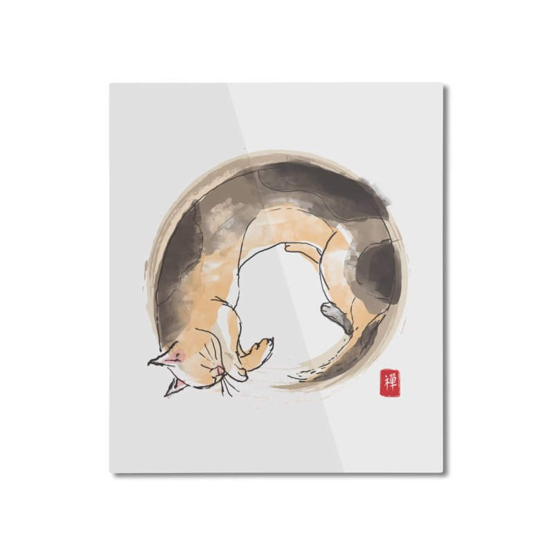 Sleeping is my zen Home Mounted Aluminum Print by kooky love's Artist Shop