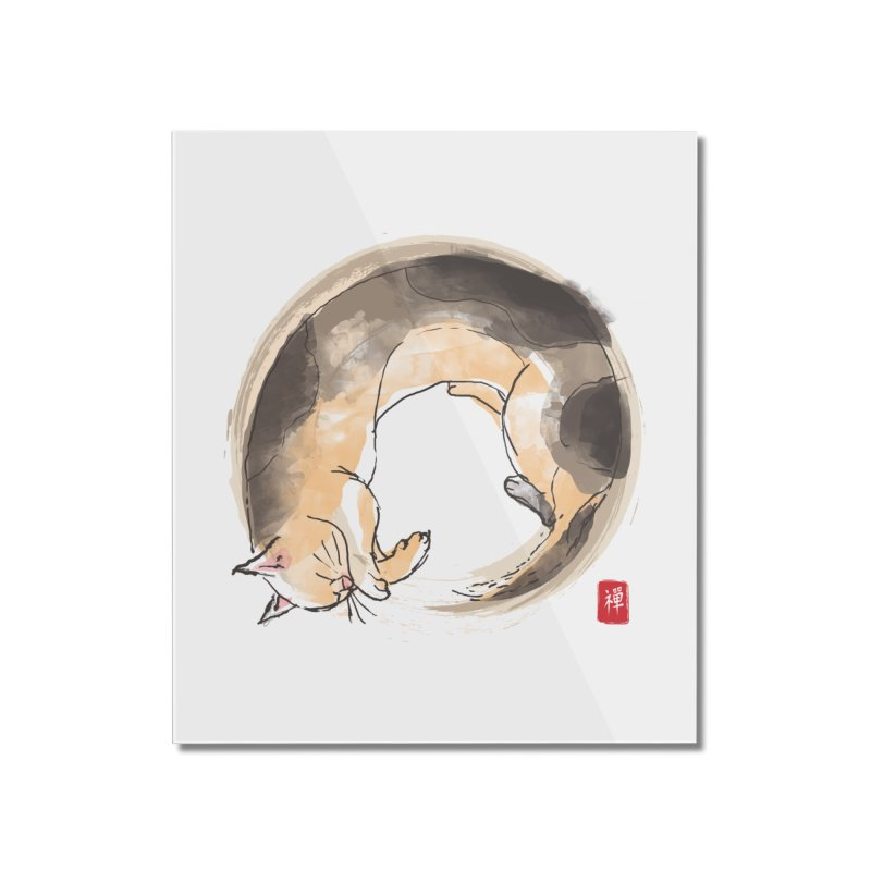 Sleeping is my zen Home Mounted Acrylic Print by kooky love's Artist Shop