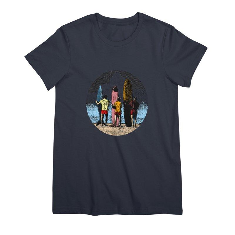 Shark Surfer Women's Premium T-Shirt by kooky love's Artist Shop
