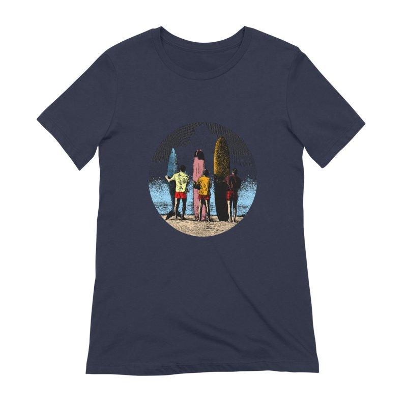 Shark Surfer Women's Extra Soft T-Shirt by kooky love's Artist Shop
