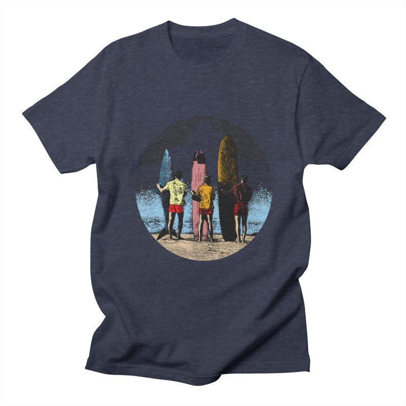 Shark Surfer Men's Regular T-Shirt by kooky love's Artist Shop