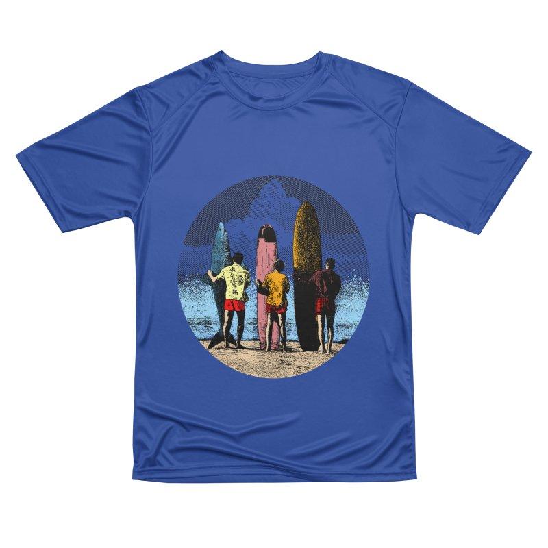Shark Surfer Men's Performance T-Shirt by kooky love's Artist Shop