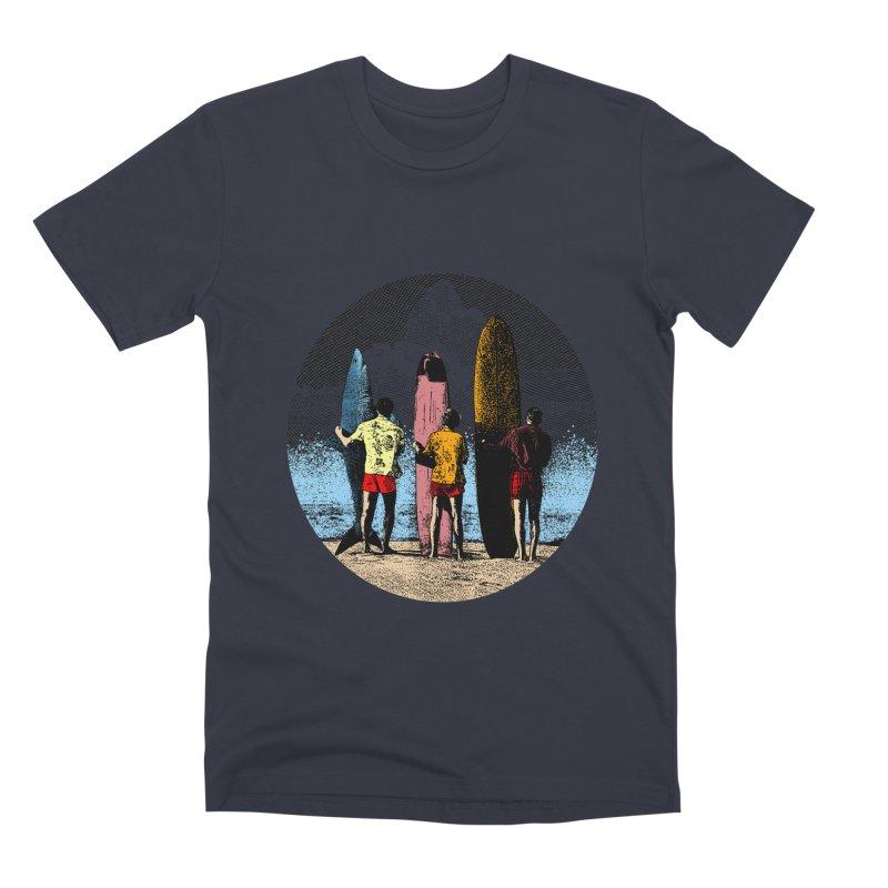 Shark Surfer Men's Premium T-Shirt by kooky love's Artist Shop