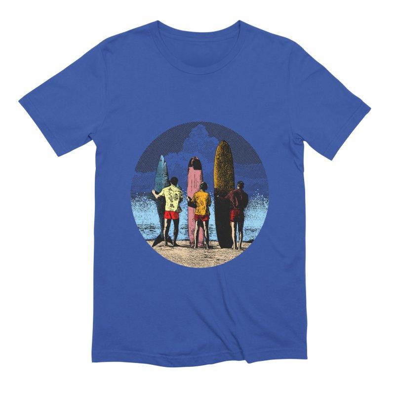 Shark Surfer Men's Extra Soft T-Shirt by kooky love's Artist Shop
