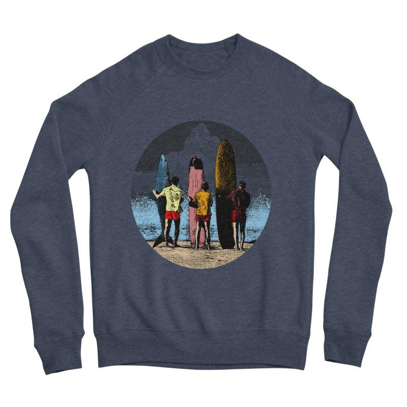 Shark Surfer Men's Sponge Fleece Sweatshirt by kooky love's Artist Shop