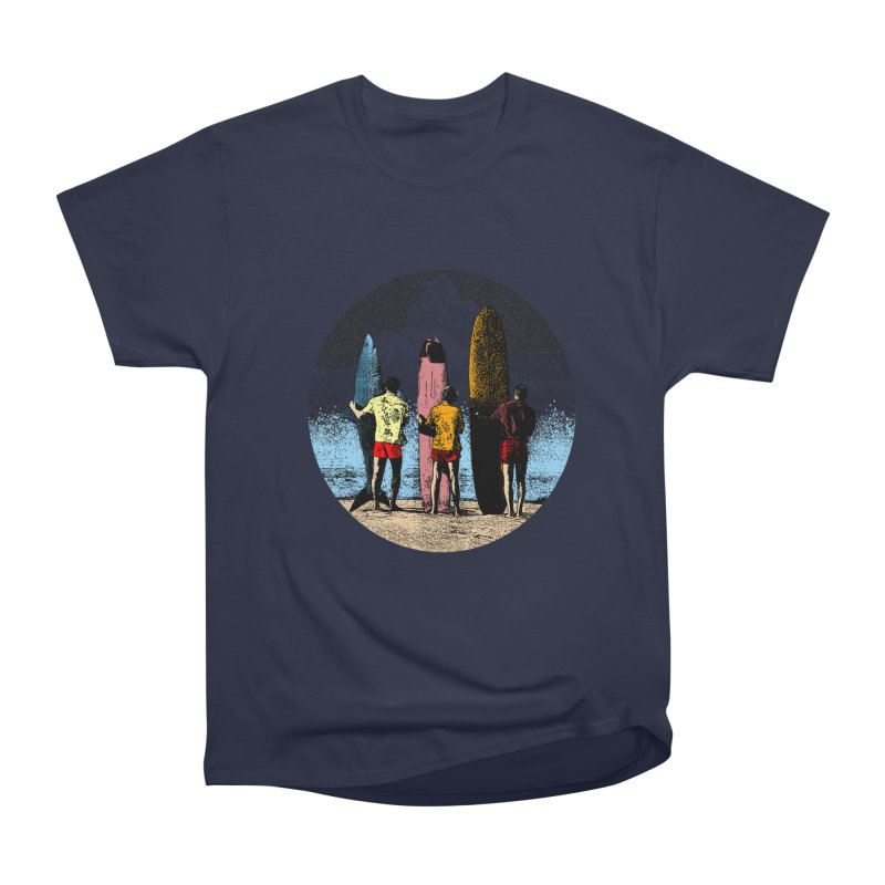 Shark Surfer Women's Heavyweight Unisex T-Shirt by kooky love's Artist Shop