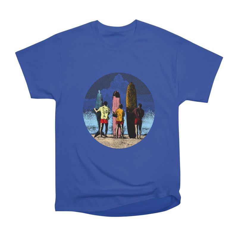Shark Surfer Men's Heavyweight T-Shirt by kooky love's Artist Shop