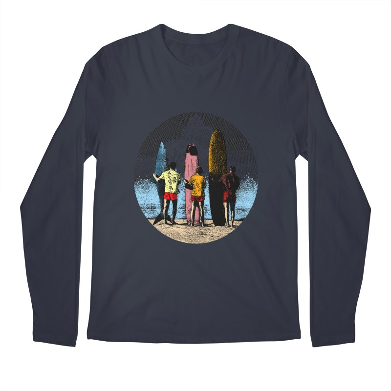 Shark Surfer Men's Longsleeve T-Shirt by kooky love's Artist Shop