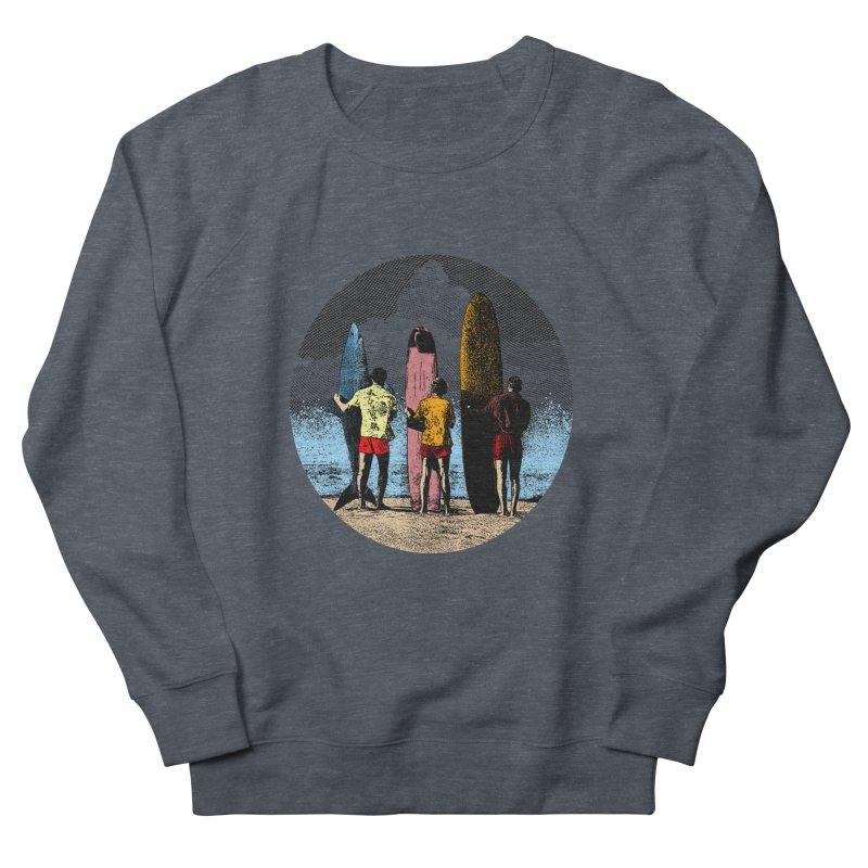 Shark Surfer Women's French Terry Sweatshirt by kooky love's Artist Shop