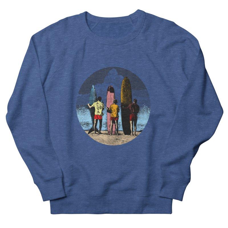 Shark Surfer Men's French Terry Sweatshirt by kooky love's Artist Shop