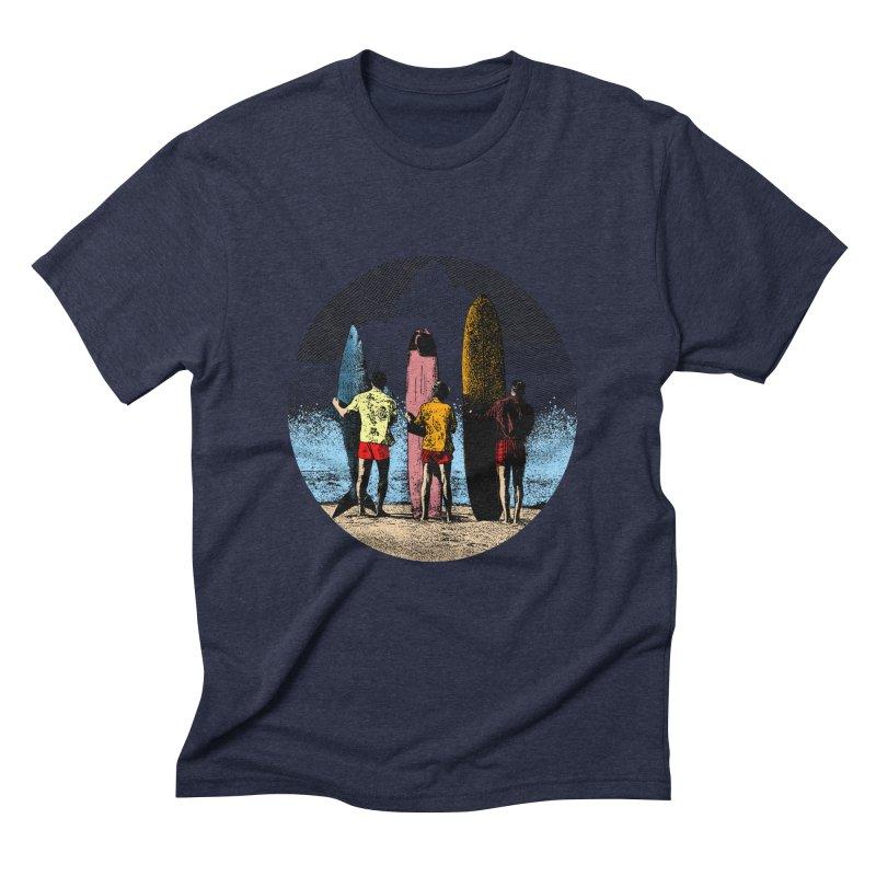 Shark Surfer Men's Triblend T-Shirt by kooky love's Artist Shop