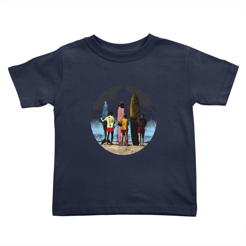 Shark Surfer Kids Toddler T-Shirt by kooky love's Artist Shop