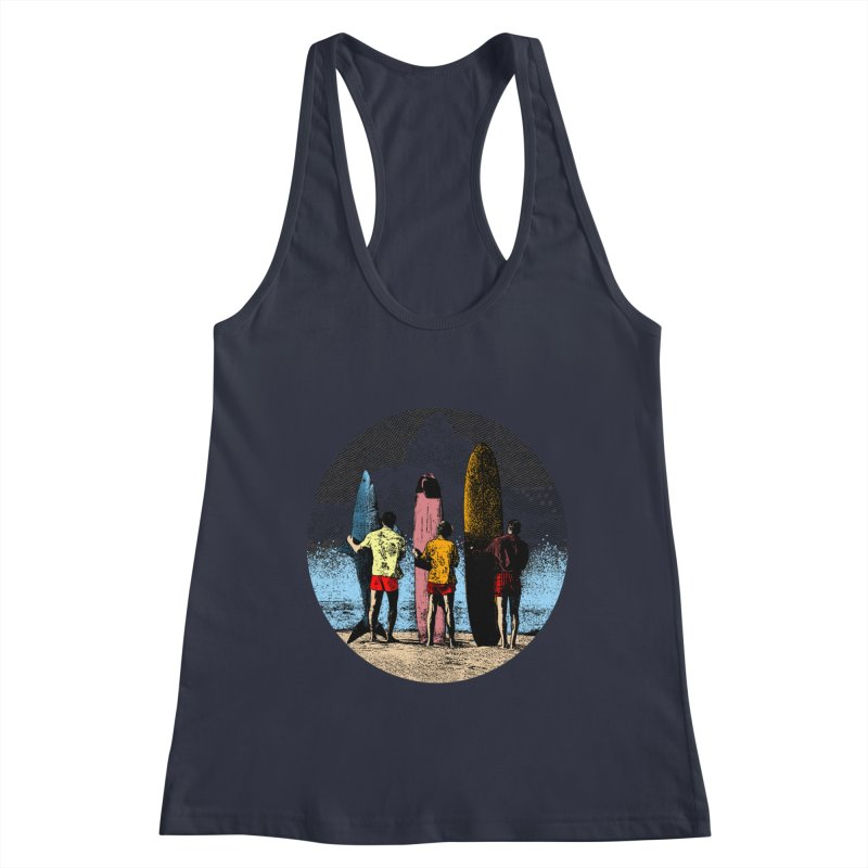 Shark Surfer Women's Racerback Tank by kooky love's Artist Shop