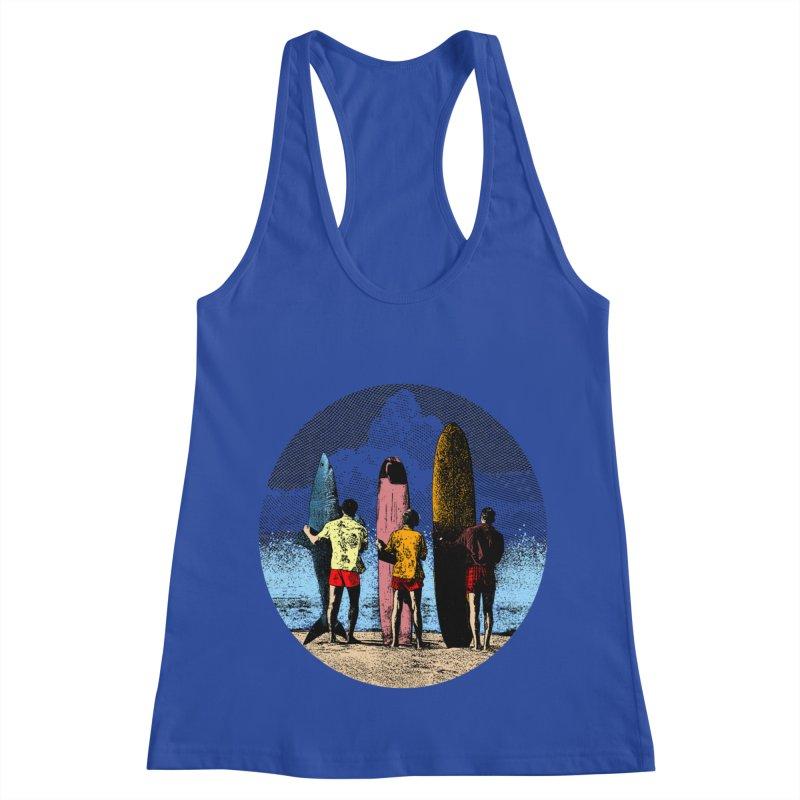 Shark Surfer Women's Racerback Tank by kooky love's Artist Shop