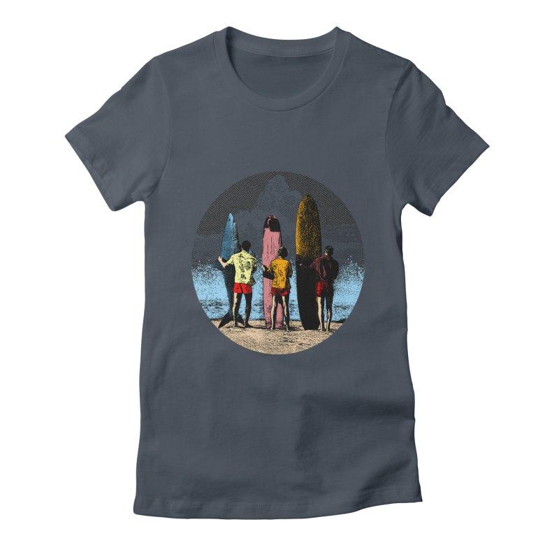 Shark Surfer Women's T-Shirt by kooky love's Artist Shop