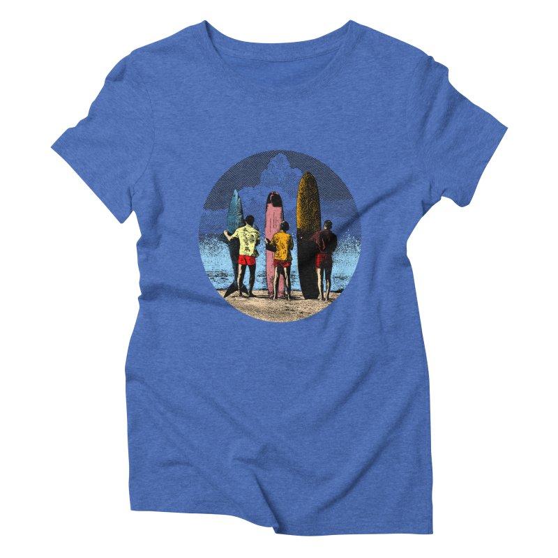 Shark Surfer Women's Triblend T-Shirt by kooky love's Artist Shop